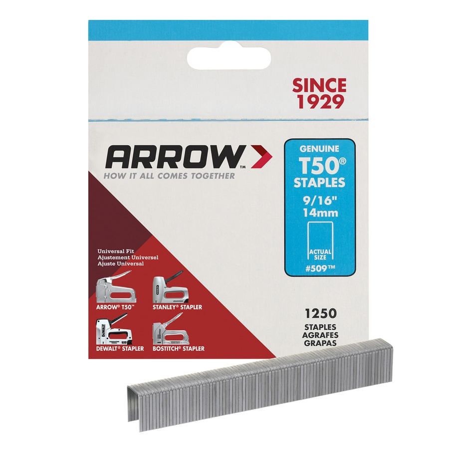 Arrow 1,250-Count 0.5625-in Heavy-Duty Staples