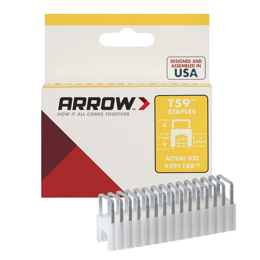 Arrow Fastener 300-Count 0.3125-in Plastic Insulated Cable Staples