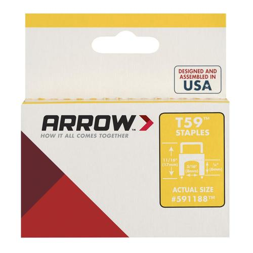 """Arrow 591188 1//4/"""" x 5//16/"""" CLEAR Insulated Staples for T59 Stapler 2 BOXES"""