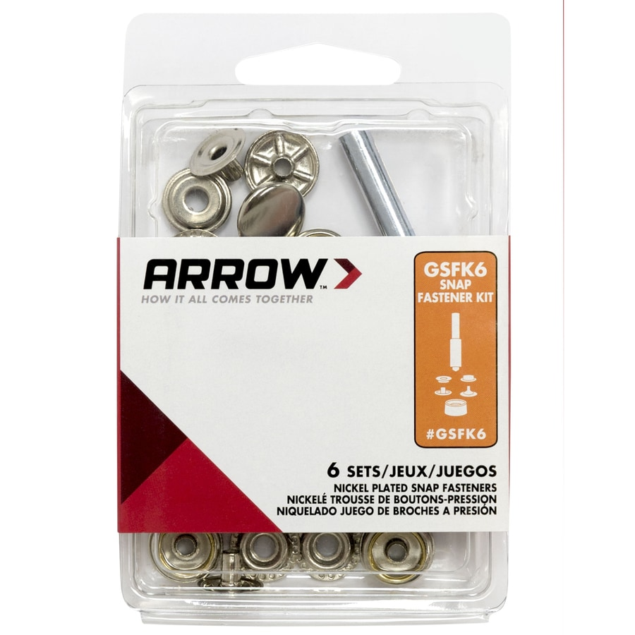 Arrow Fastener 6-Pack 0.5-in Brass, Aluminum, Steel Grommets