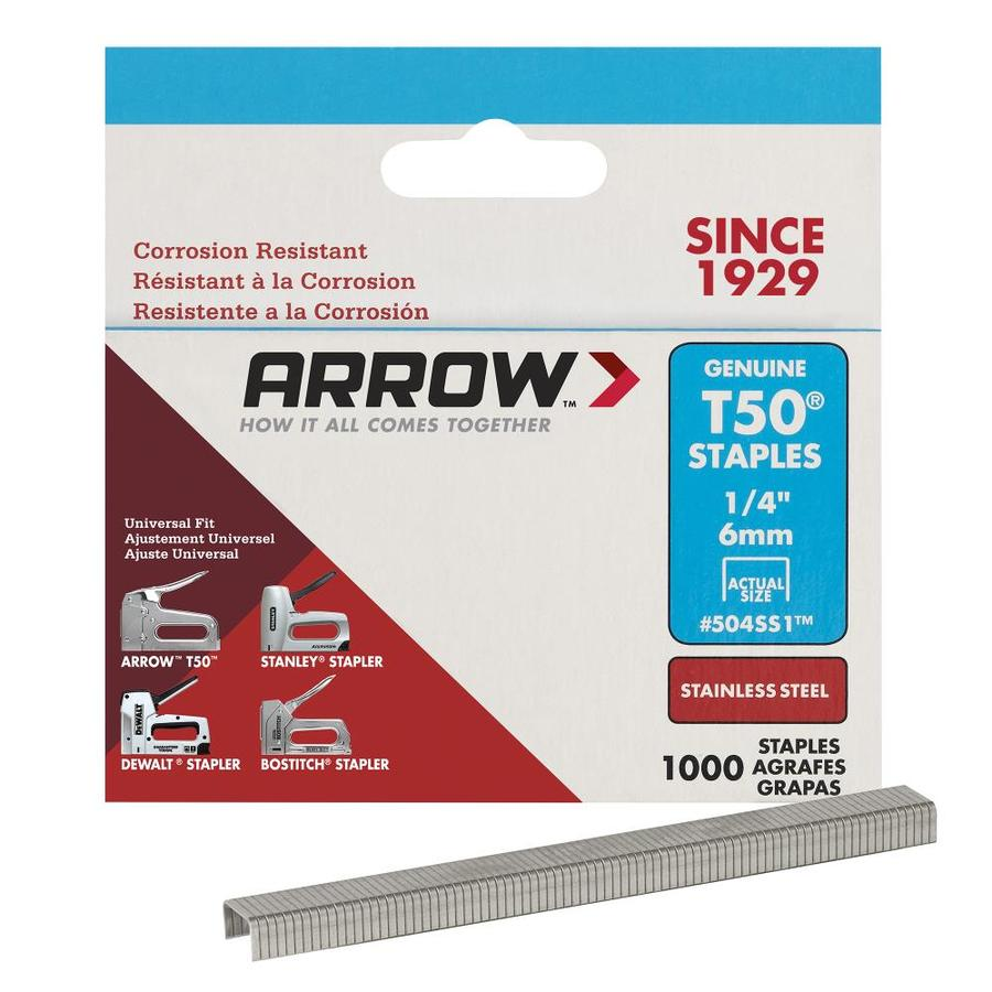 Arrow Fastener 1,000-Count 0.25-in Heavy-Duty Staples