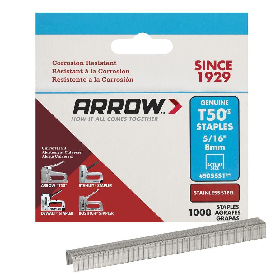 Arrow Fastener 1,000-Count 0.3125-in Heavy-Duty Staples