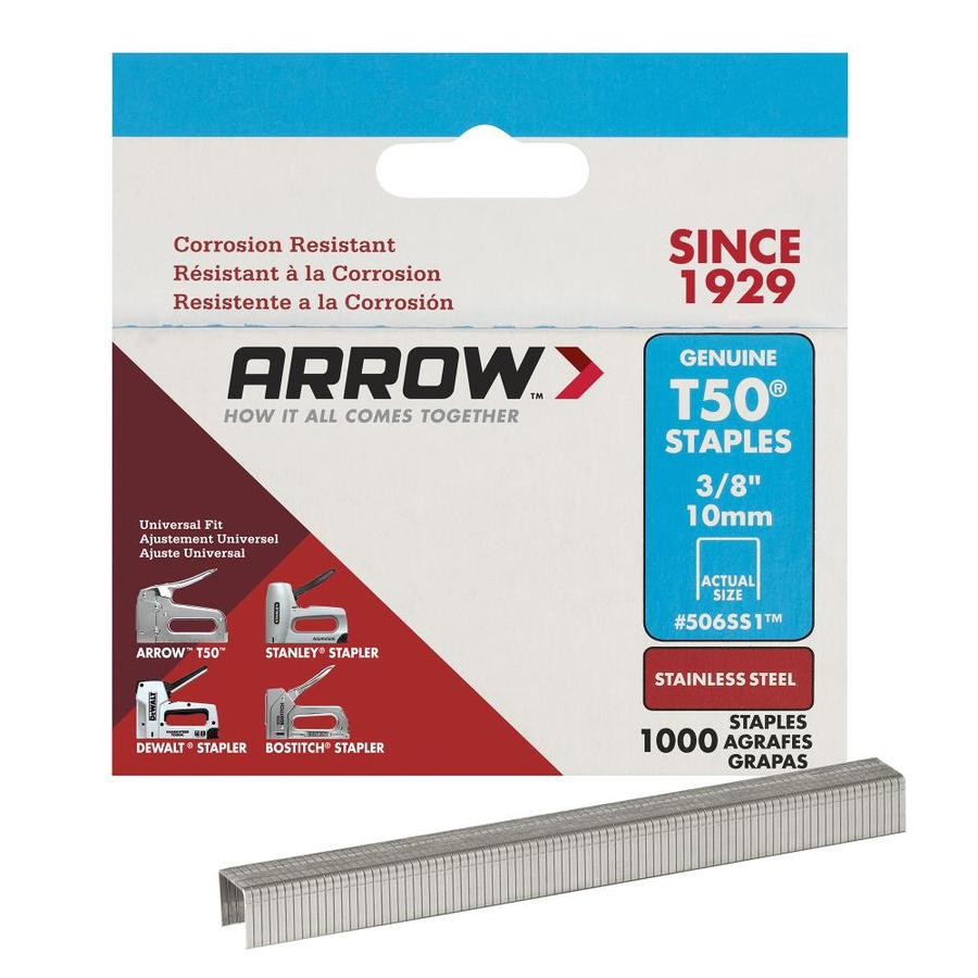 Arrow Fastener 1,000-Count 0.375-in Heavy-Duty Staples