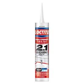 LOCTITE 2 in 1 Seal & Bond Tub And Tile Adhesive Kitchen & Bath Caulk