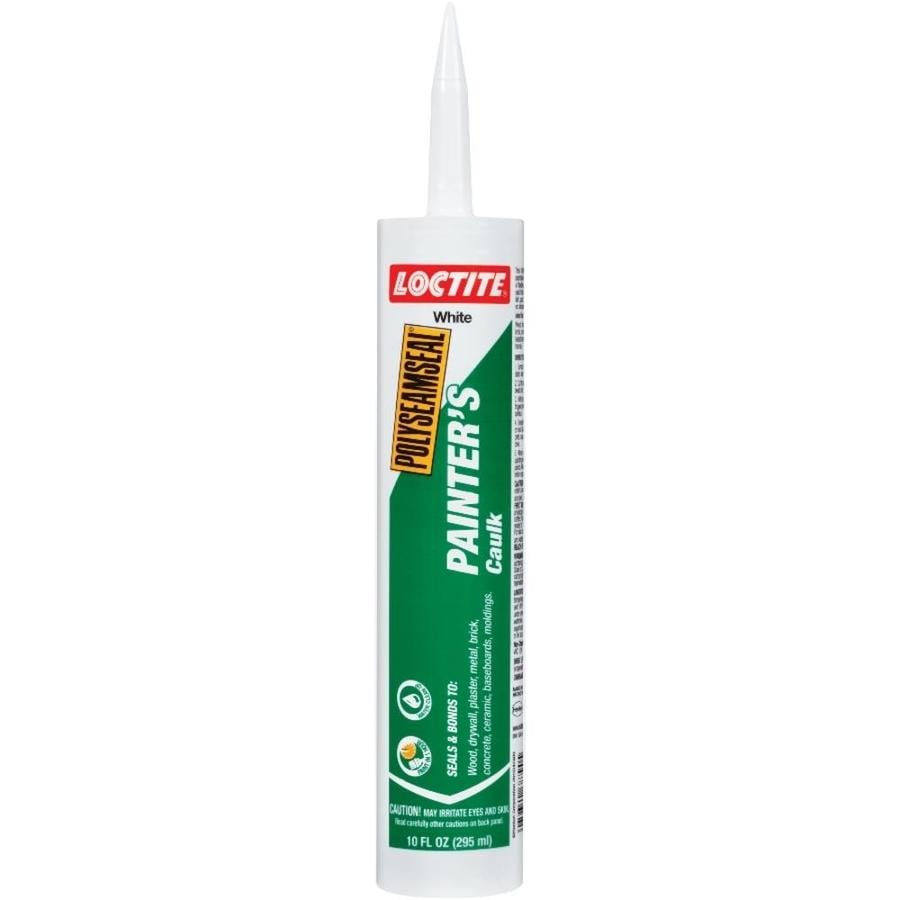shop loctite polyseamseal 10 fl oz white paintable caulk at