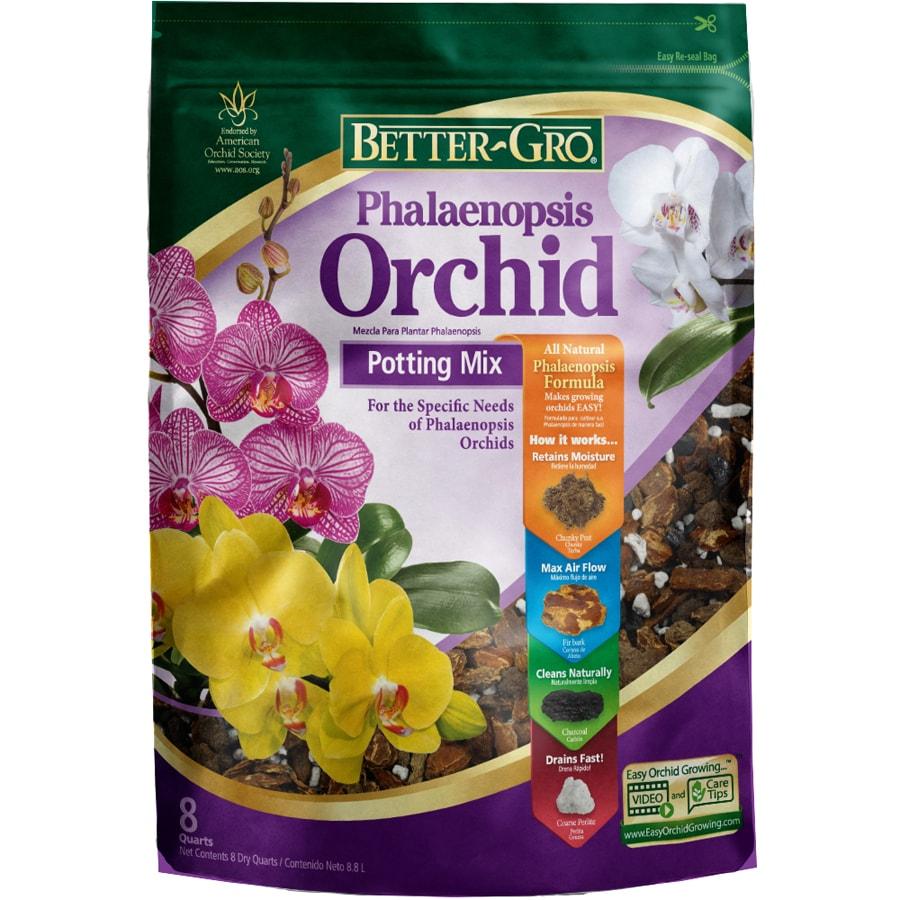BETTER-GRO Orchid Mix 8-Quart Organic Phalaenopsis Mix Soil