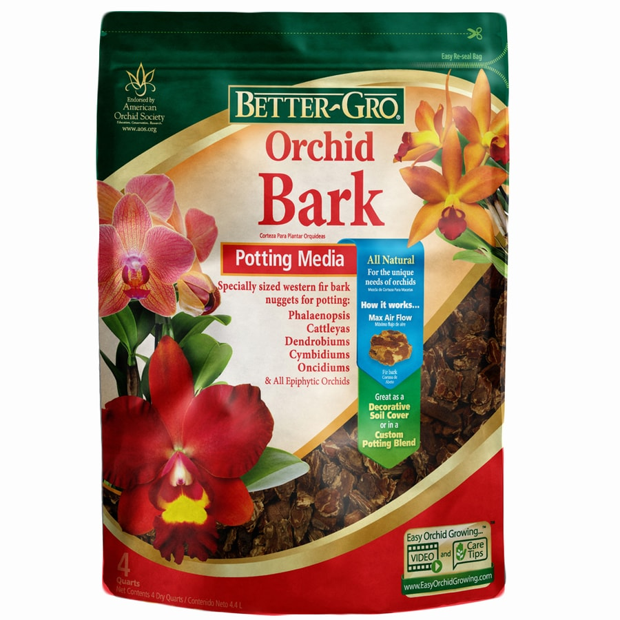 BETTER-GRO 4-Quart Orchid Bark