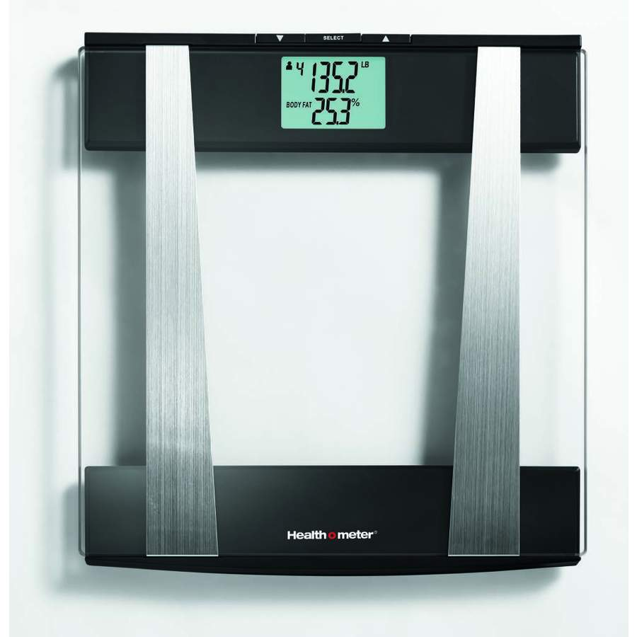 Health O Meter Clear Glass With Chrome And Black Accents Digital Bathroom  Scale