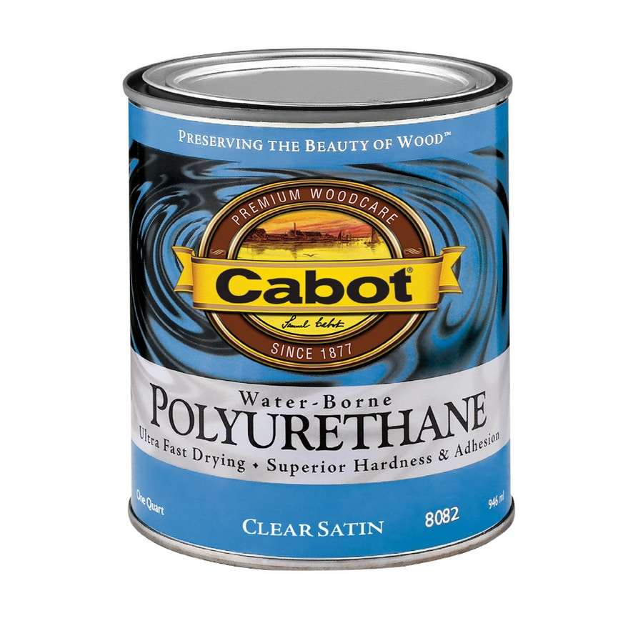 Water Based Polyurethane For Floors Lowes: Cabot Quart Water Based Polyurethane Satin At Lowes.com