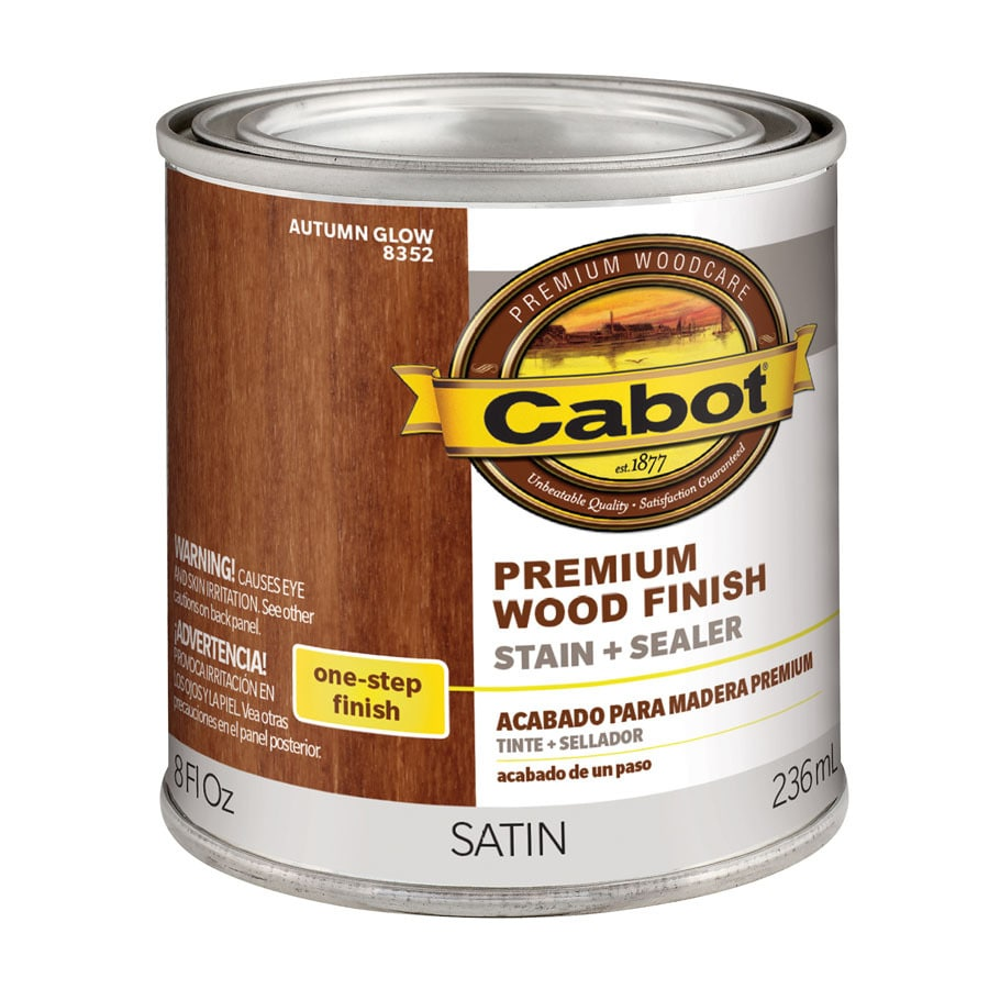 Shop Cabot Autumn Glow Interior Stain Actual Net Contents 8 Fl Oz At