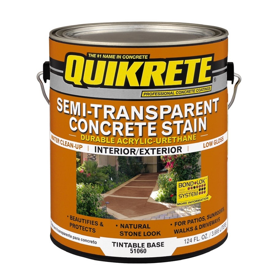 QUIKRETE Gallon Semi-Transparent Concrete Stain