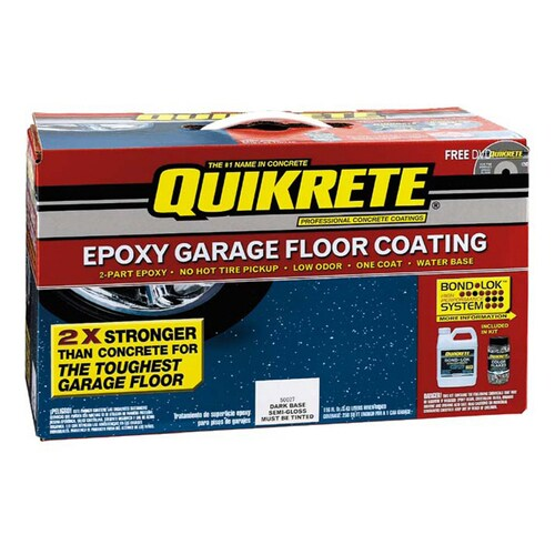 QUIKRETE 1-Gallon Kit Epoxy Garage Floor Coating Dark Base