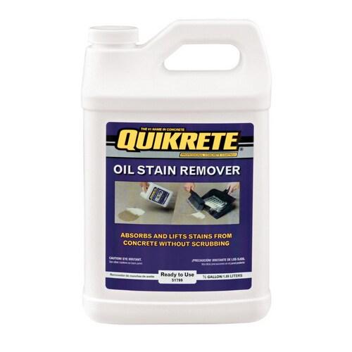 Concrete Stain Remover >> Quikrete 0 5 Gallon Oil Stain Remover At Lowes Com