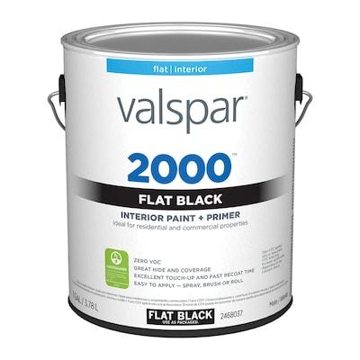 Valspar 2000 Flat Black Interior Paint (1-Gallon)
