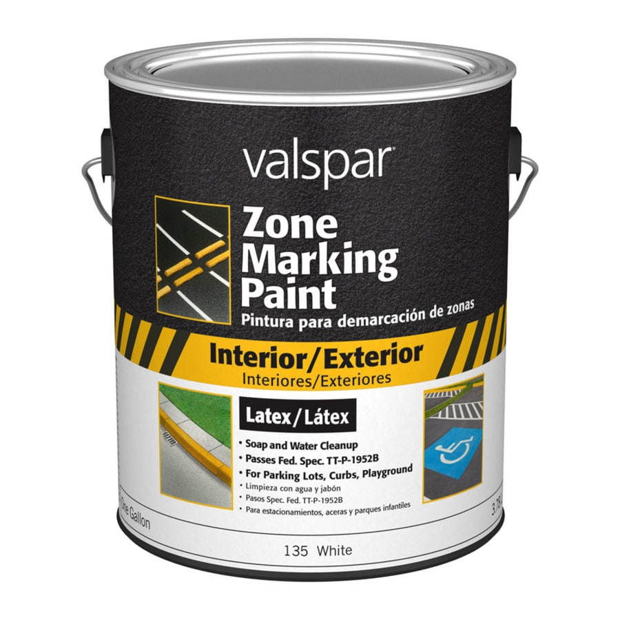 Shop valspar zone white latex marking paint actual net for White line marker paint