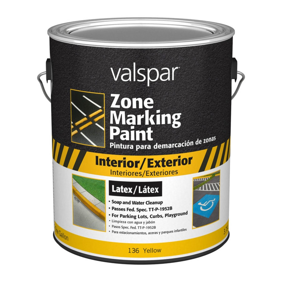 Valspar Zone Yellow Latex Marking Paint (Actual Net Contents: 128-fl oz)