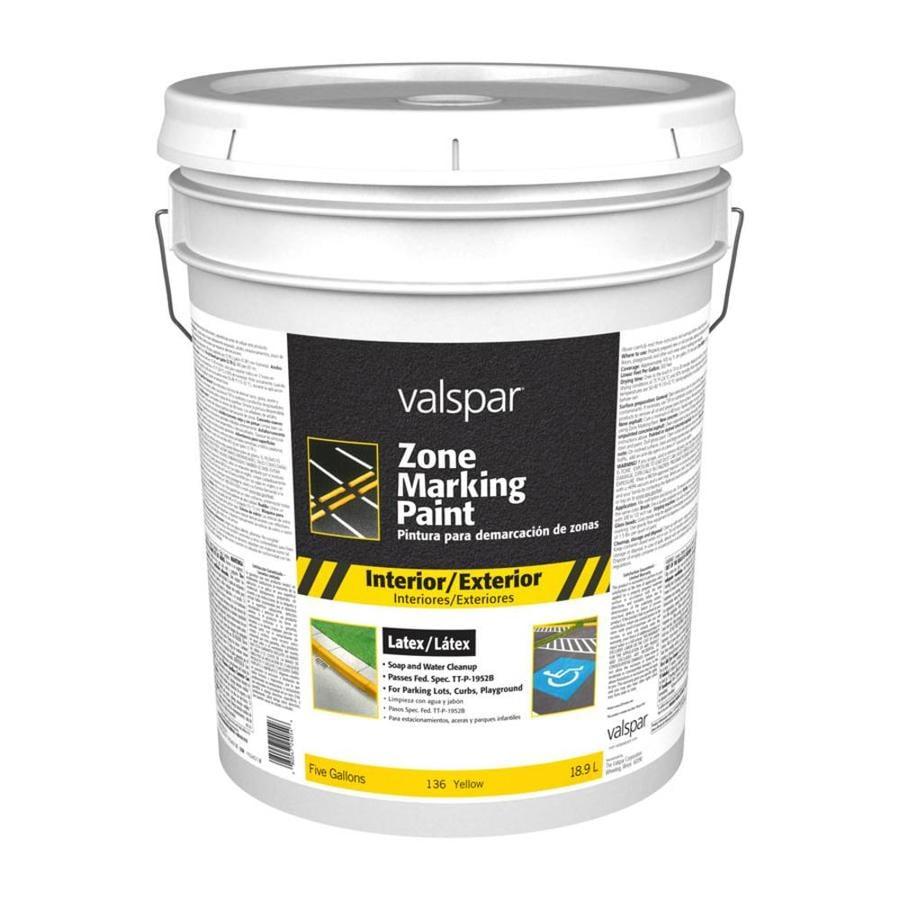 Valspar Zone Yellow Latex Marking Paint (Actual Net Contents: 640-fl oz)