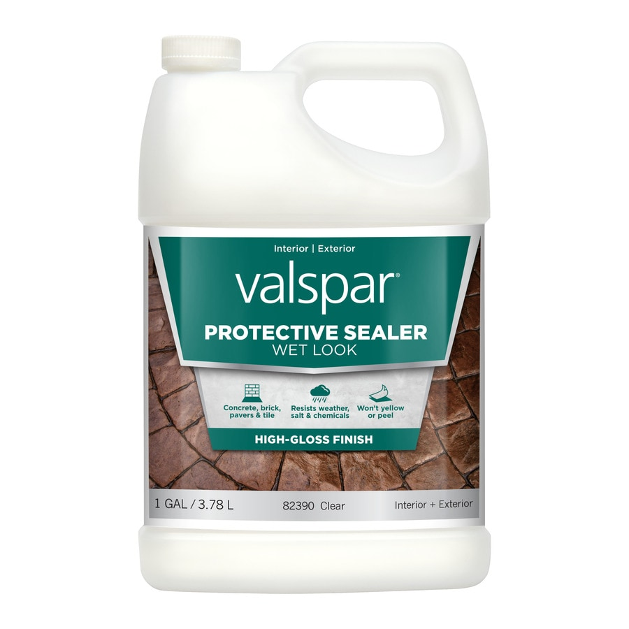 Valspar Clear Wet Look Sealer Gloss Waterproofer (Actual Net Contents: 128-fl oz)