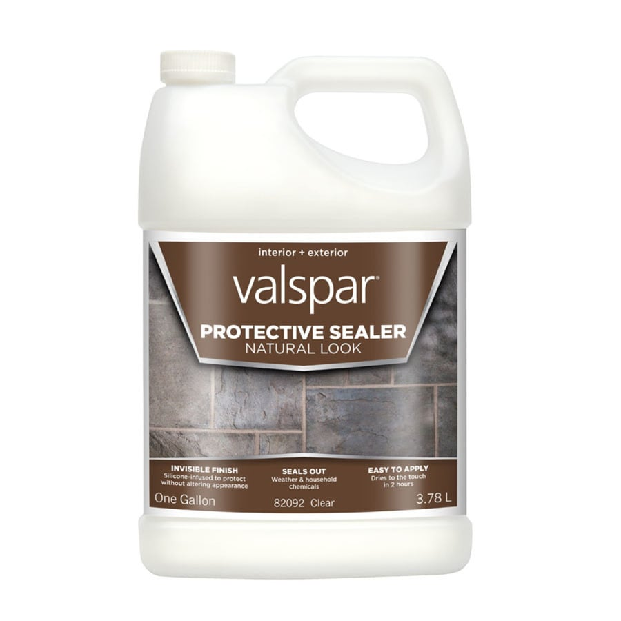 Valspar Clear Natural Look Sealer Satin Waterproofer Actual Net