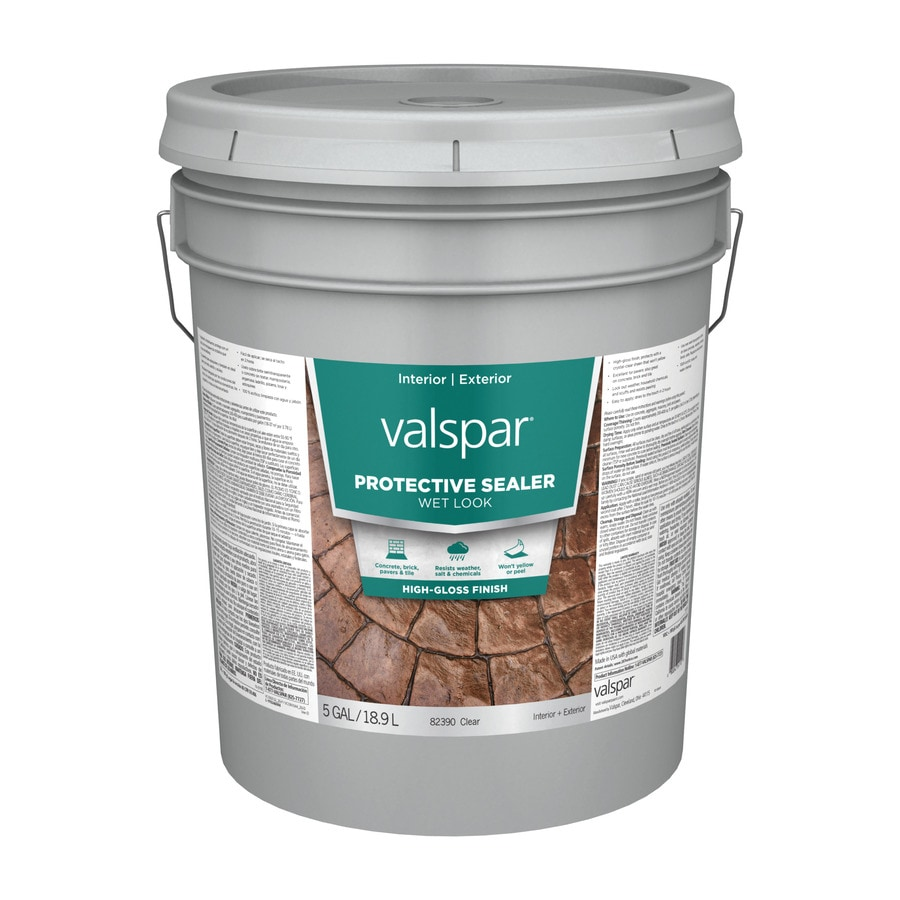 Valspar Clear Wet Look Sealer Gloss Waterproofer (Actual Net Contents: 640-fl oz)