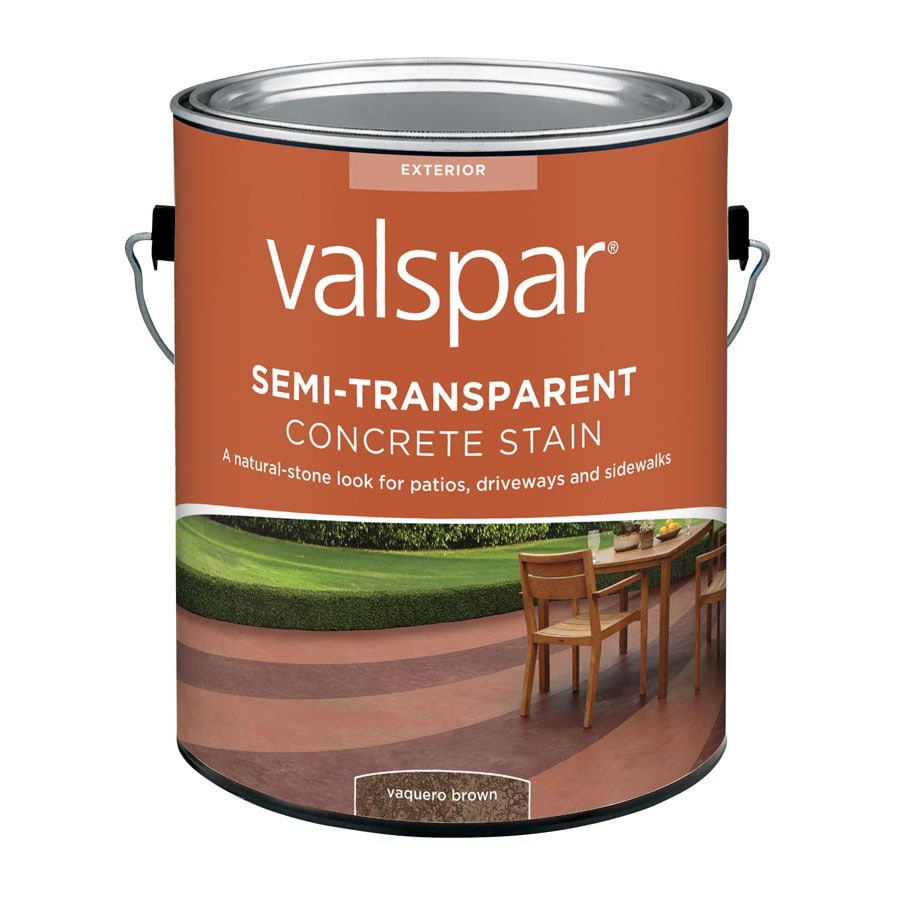 Valspar Vaquero Brown Semi-Transparent Concrete Stain and Sealer (128-fl oz)