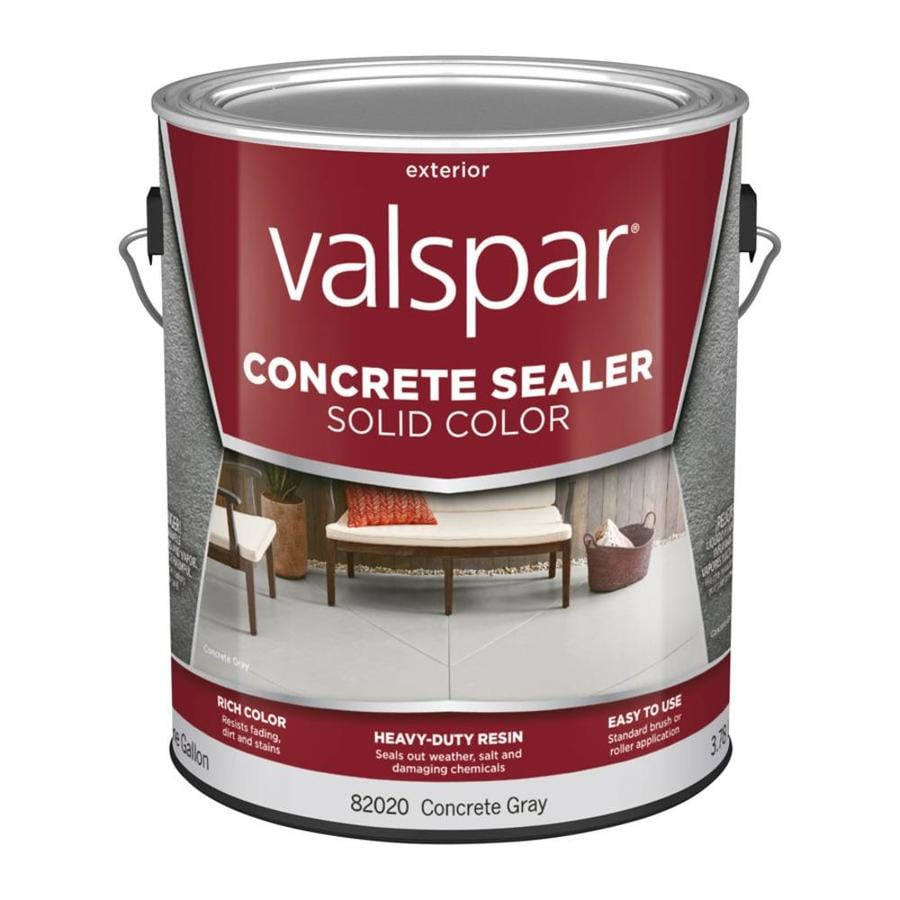 Valspar Concrete Gray Solid Concrete Sealer (Actual Net Contents: 128-fl oz)