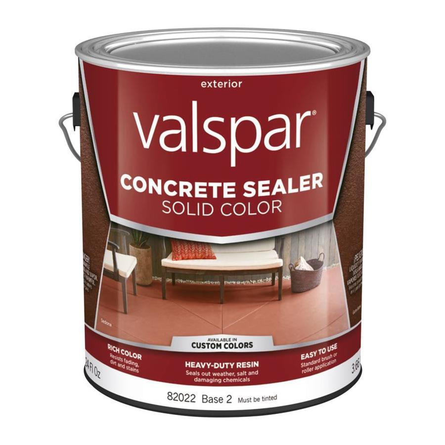 Shop Valspar Tintable Base 2 Solid Concrete Sealer Actual Net Contents 124 Fl Oz At