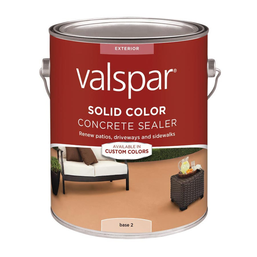Valspar Tintable Base 2 Solid Concrete Stain and Sealer (124-fl oz)