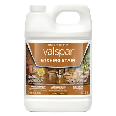 Valspar Coffee Semi-Transparent Concrete Etching Stain (Gallon)