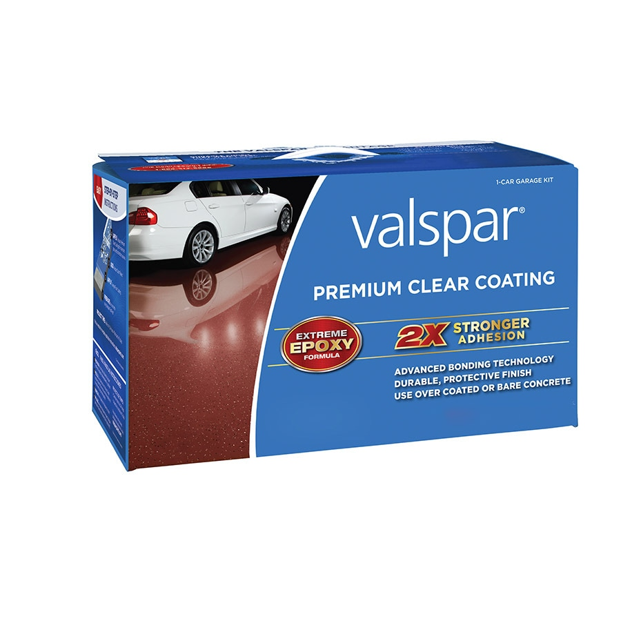 Valspar 2-Part Clear Gloss Garage Floor Epoxy Kit (Actual Net Contents: 128-fl oz)