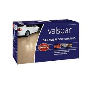 Shop Valspar 2 Part Tan Semi Gloss Garage Floor Epoxy Kit