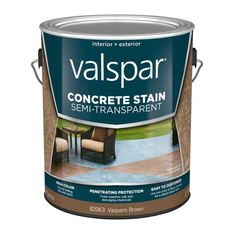 Valspar Vaquero Brown Semi Transpa Concrete Stain And Sealer Actual Net Contents 128