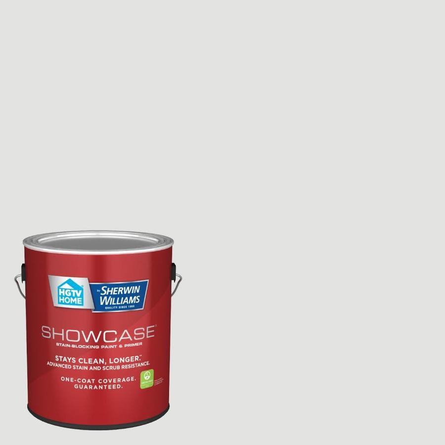 Hgtv Home By Sherwin Williams Showcase Flat Silver Dust 7004 19 Interior Paint 1 Gallon In The Interior Paint Department At Lowes Com