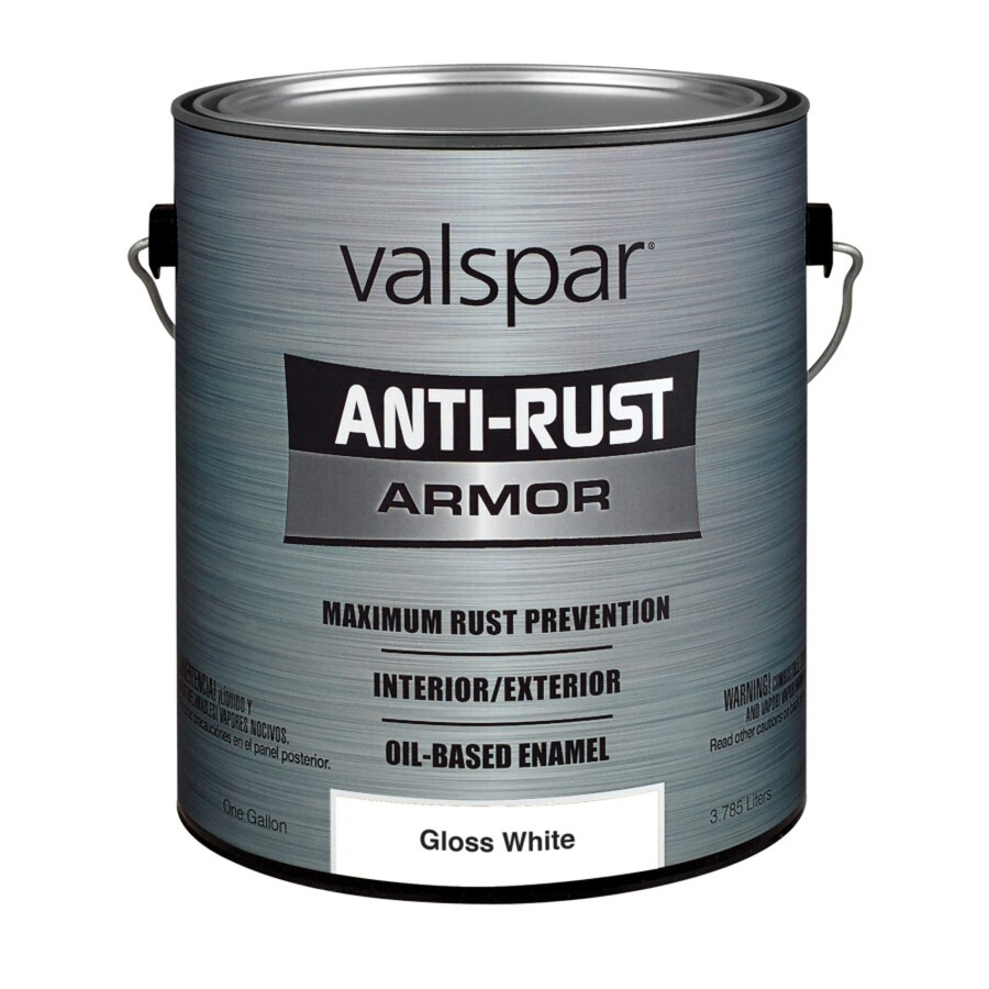 Valspar Anti-Rust Armor White Gloss Enamel Interior/Exterior Paint (Actual Net Contents: 128-fl oz)