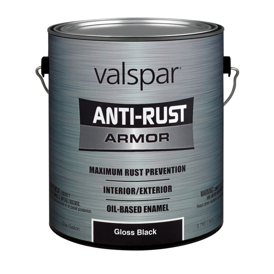 Valspar Anti-Rust Armor Black Gloss Oil-Based Enamel Interior/Exterior Paint (Actual Net Contents: 128-fl oz)