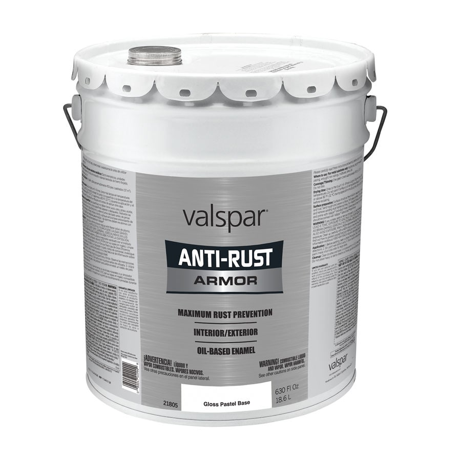 Valspar Anti-Rust Armor White Gloss Oil-Based Enamel Interior/Exterior Paint (Actual Net Contents: 630-fl oz)