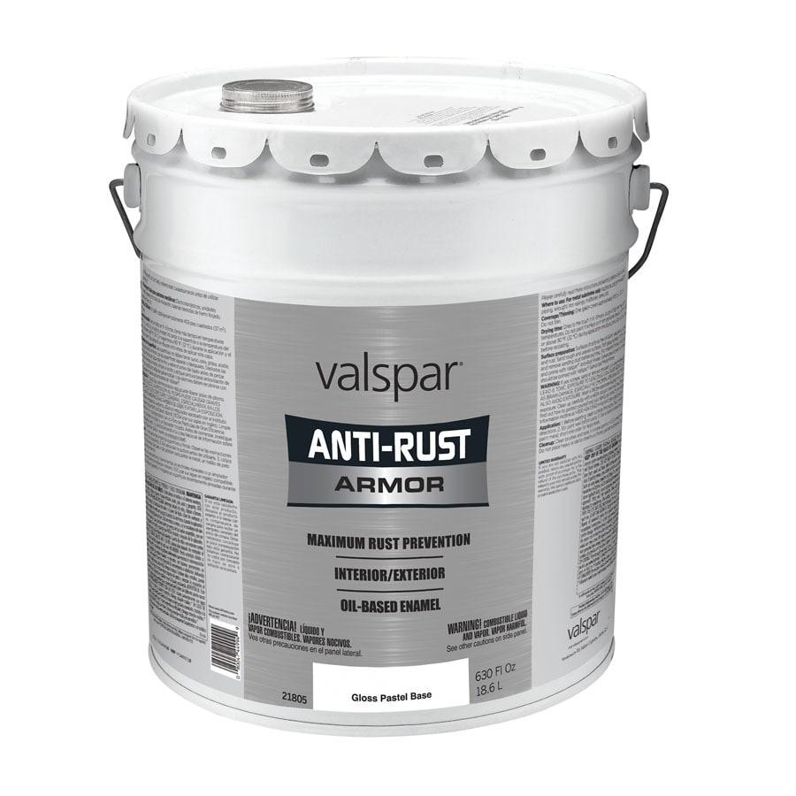 Shop Valspar Anti Rust Armor White Gloss Oil Based Enamel Interior Exterior Paint Actual Net