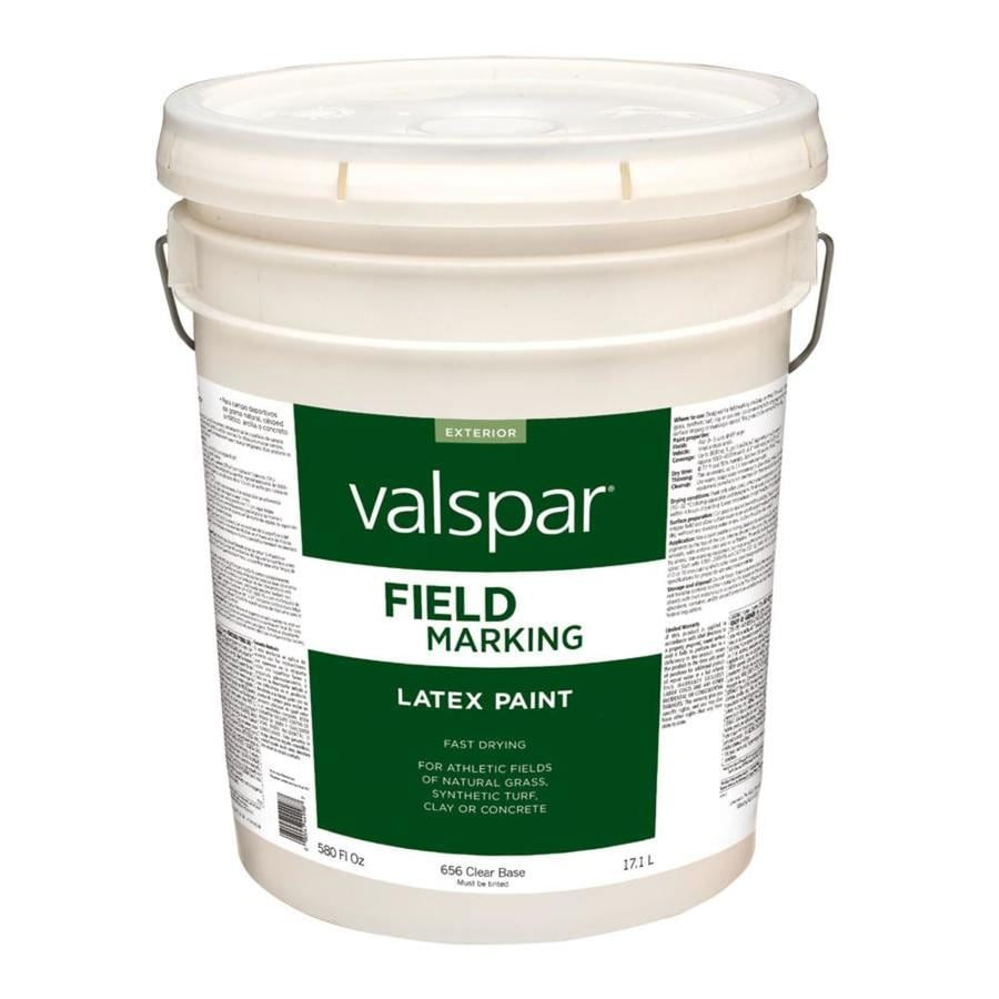 Valspar Field Clear Base Latex Marking Paint (Actual Net Contents: 580-fl oz)