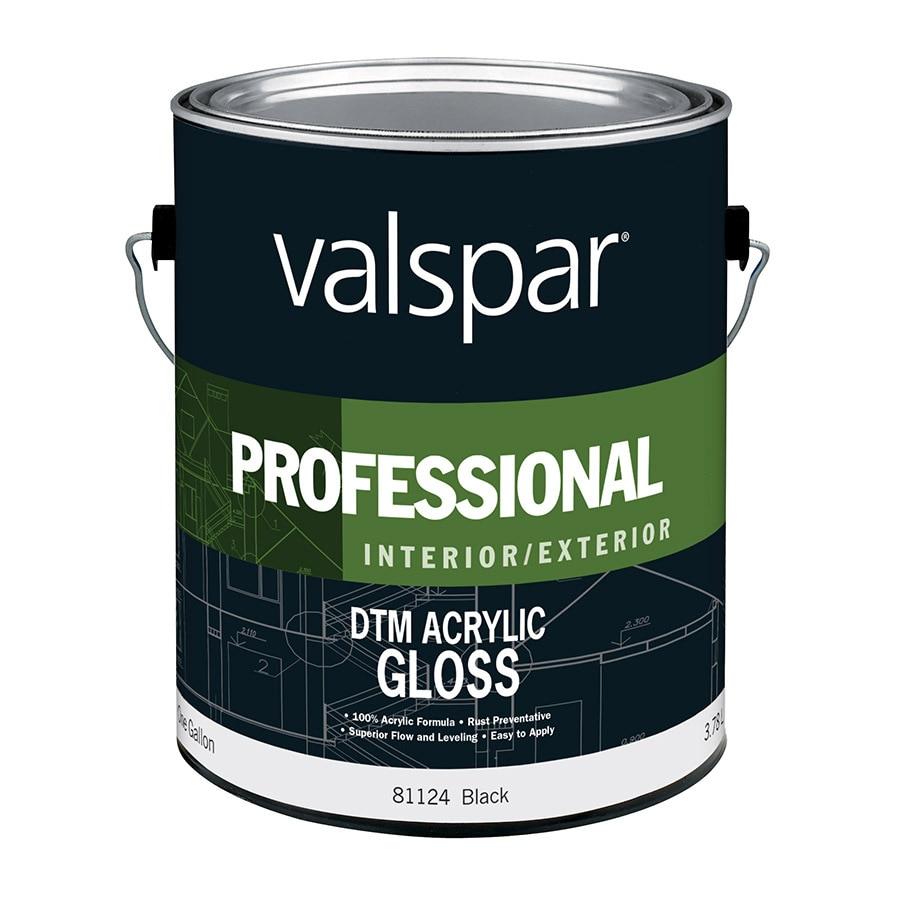 Valspar Black Gloss Latex Interior/Exterior Paint (Actual Net Contents: 128-fl oz)