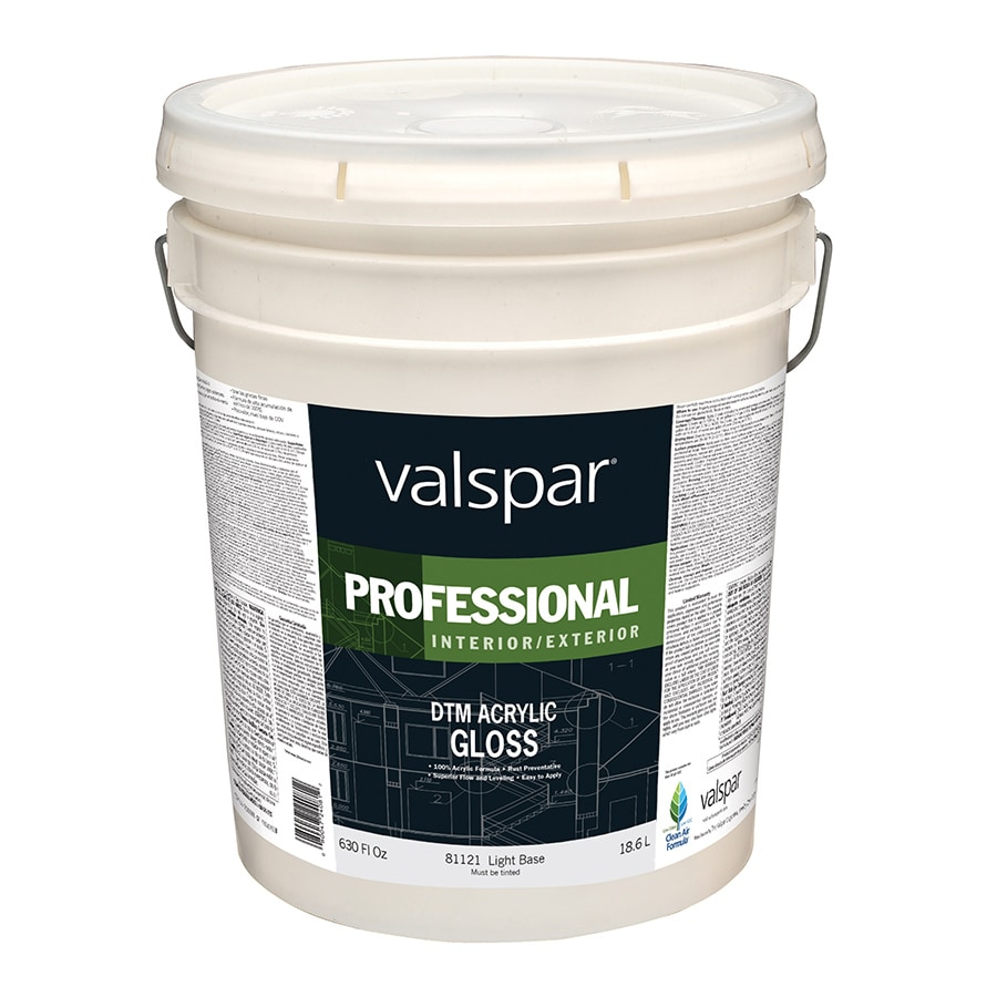 Valspar White Gloss Latex Interior/Exterior Paint (Actual Net Contents: 630-fl oz)
