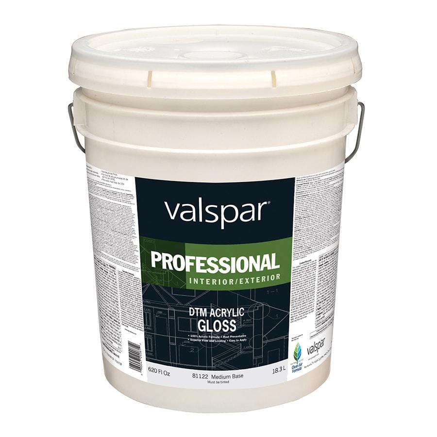 Valspar White Gloss Latex Interior/Exterior Paint (Actual Net Contents: 620-fl oz)