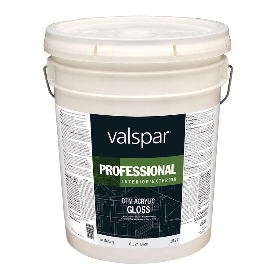 Valspar Direct to Metal Black Gloss Latex Interior/Exterior Paint (Actual Net Contents: 640-fl oz)
