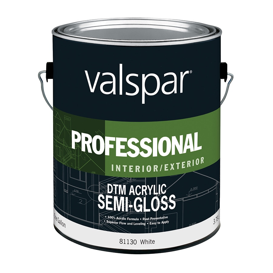 Valspar White Semi-Gloss Latex Interior/Exterior Paint (Actual Net Contents: 128-fl oz)