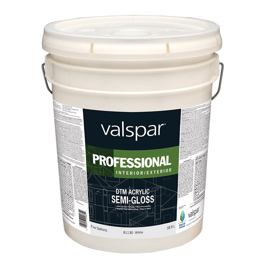 Valspar White Semi-Gloss Latex Interior/Exterior Paint (Actual Net Contents: 640-fl oz)