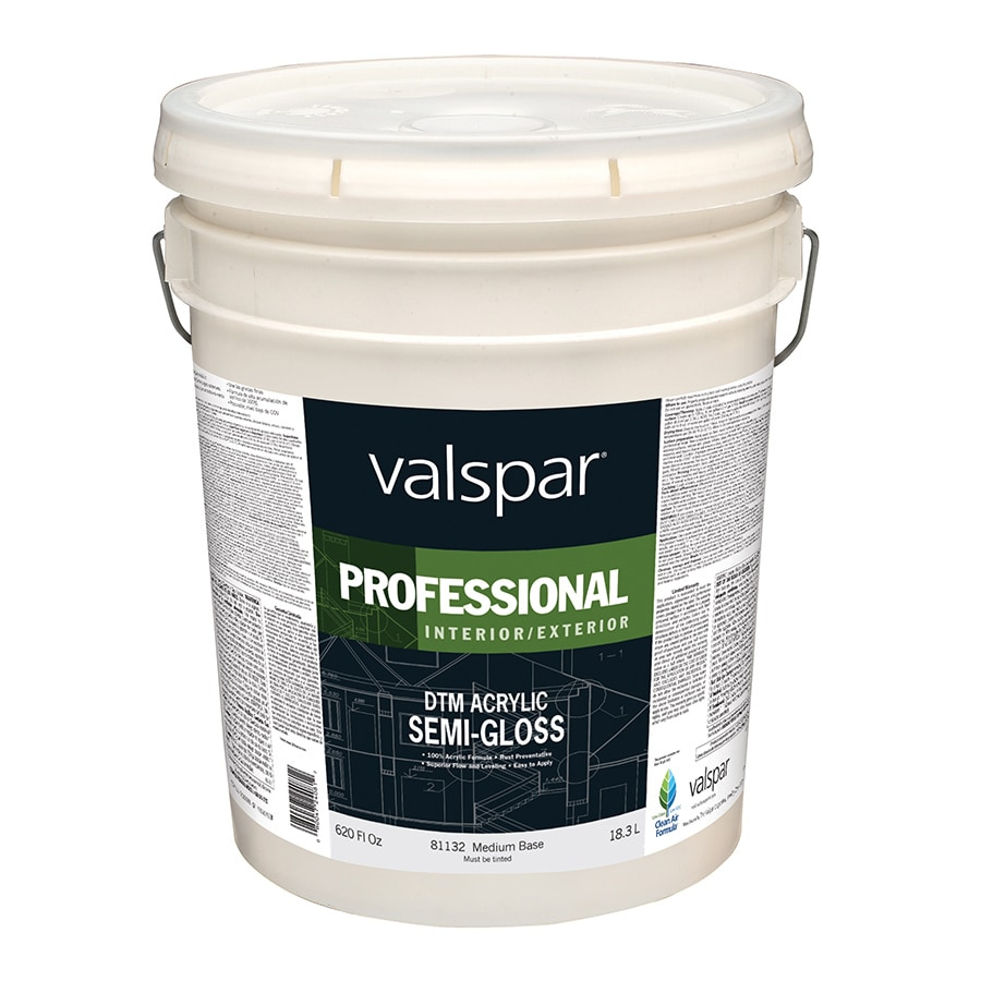 Valspar White Semi-Gloss Latex Interior/Exterior Paint (Actual Net Contents: 620-fl oz)