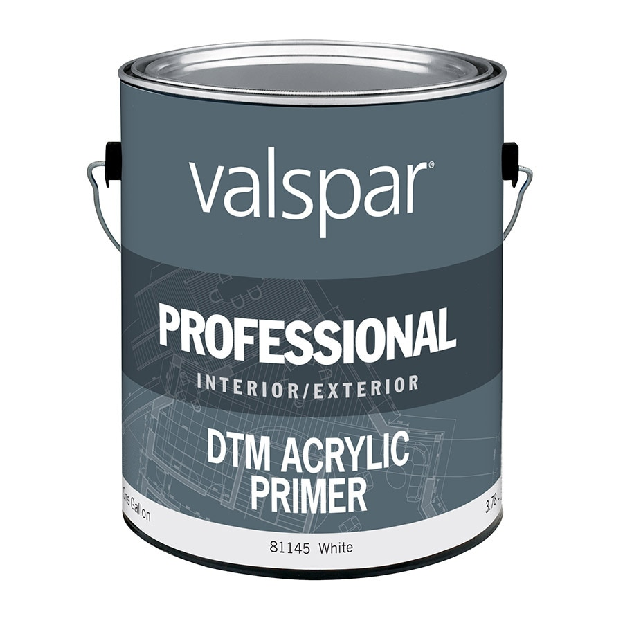 Valspar Direct to Metal White Flat Latex Interior/Exterior Paint (Actual Net Contents: 128-fl oz)
