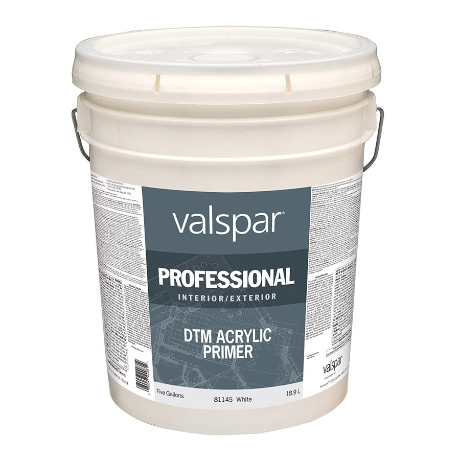 Valspar Direct to Metal White Flat Latex Interior/Exterior Paint (Actual Net Contents: 640-fl oz)