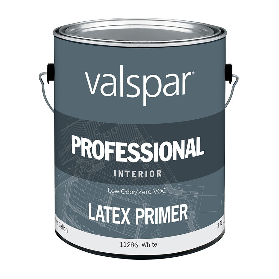 Valspar Professional White Primer Flat Latex Interior Paint (Actual Net Contents: 128-fl oz)