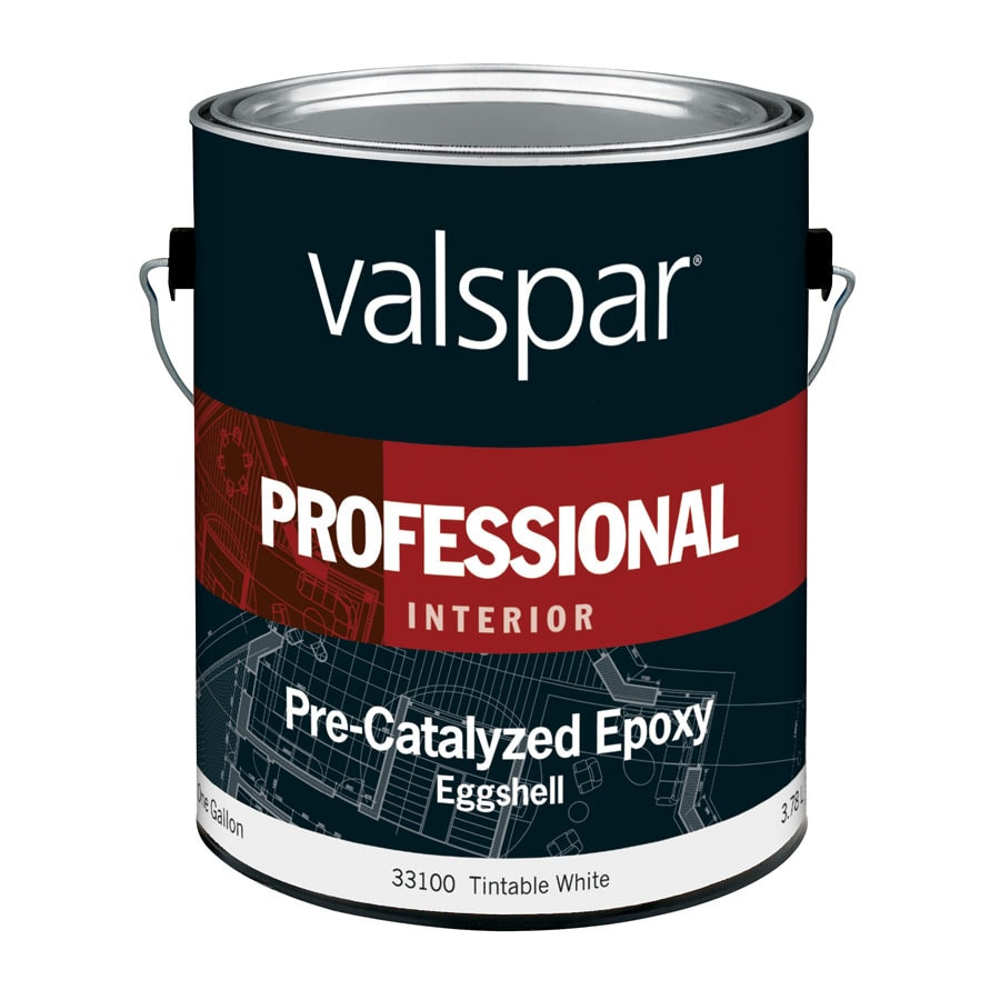 Valspar Pre-Catalyzed Epoxy Tintable White Eggshell Latex Interior Paint (Actual Net Contents: 128-fl oz)