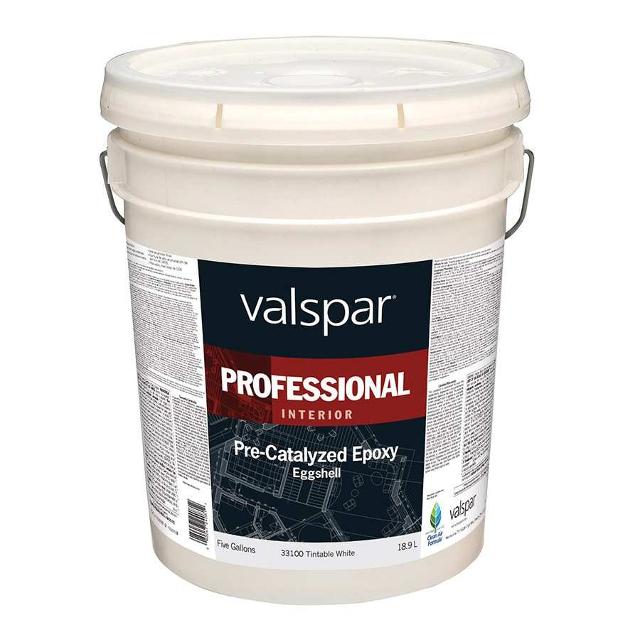 Valspar Pre-Catalyzed Epoxy Tintable White Eggshell Latex Interior Paint (Actual Net Contents: 640-fl oz)